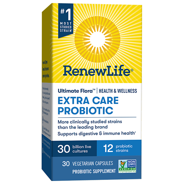 Ultimate Flora Extra Care Health & Wellness Probiotic 30 Billion