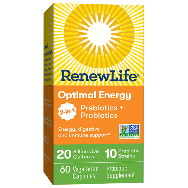 Renew Life® Optimal Energy 2-in-1 Prebiotics + Probiotics