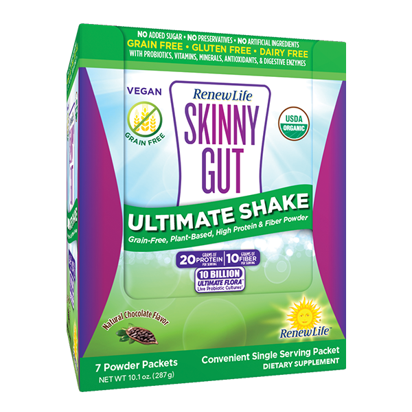 Renew Life Skinny Gut Ultimate Shake Chocolate (7-pack)